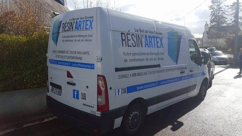 Camion Resin'Artex sols resine
