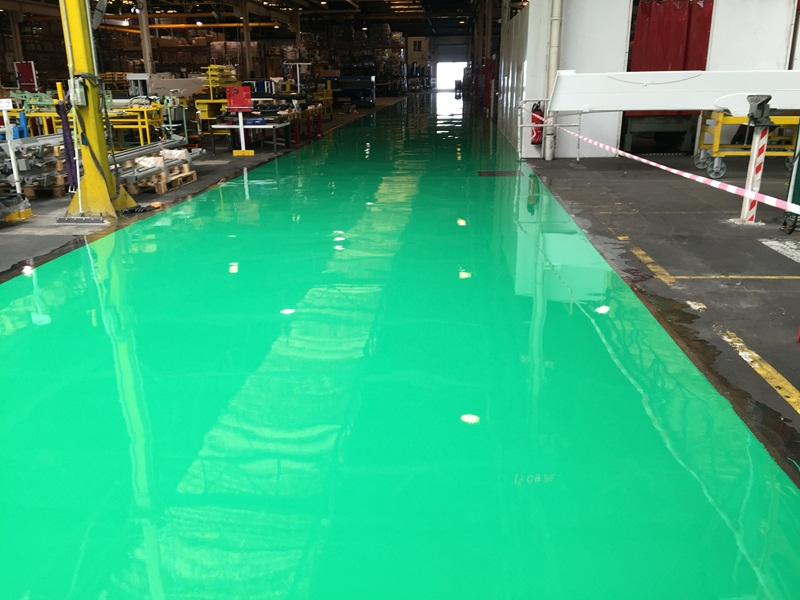 Sol resine epoxy industriel finition brillante 4