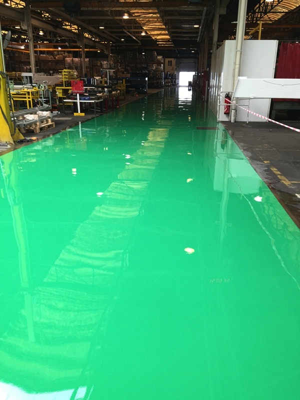 Sol resine epoxy industriel finition brillante 5