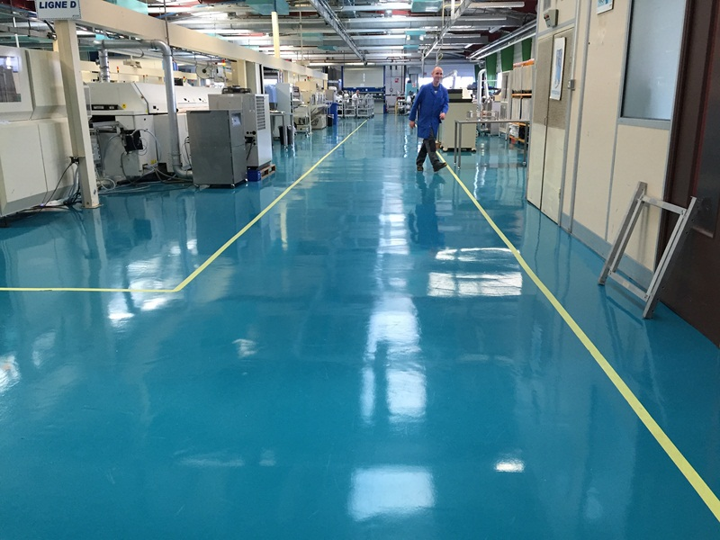 Sol resine epoxy industriel finition brillante 7