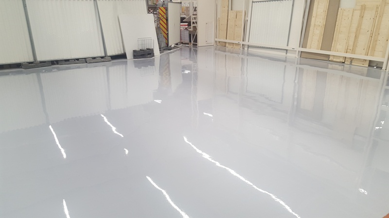 Sol resine epoxy industriel finition brillante