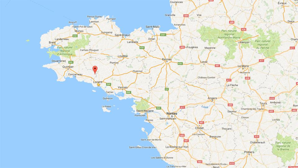 Bretagne google map Arzano Resinartex