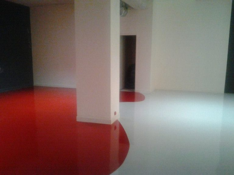 Sol resine Epoxy decoratif rouge