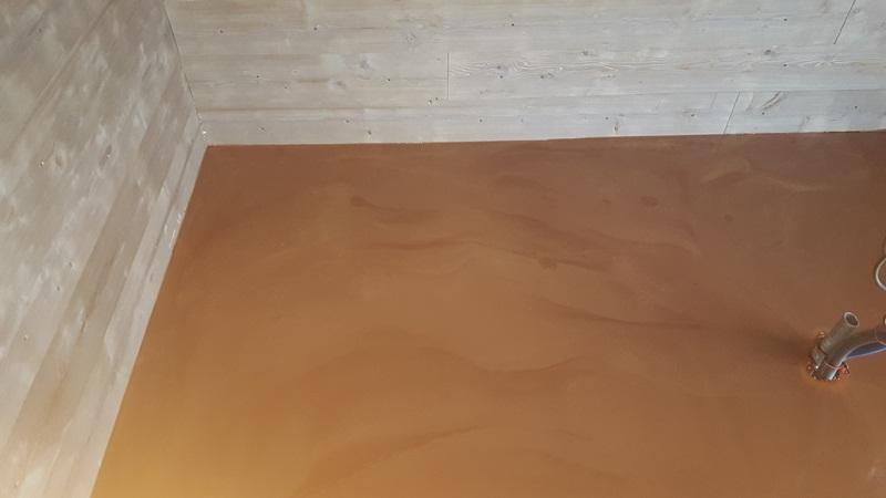 Sol resine epoxy decoratif nuage ocre 4