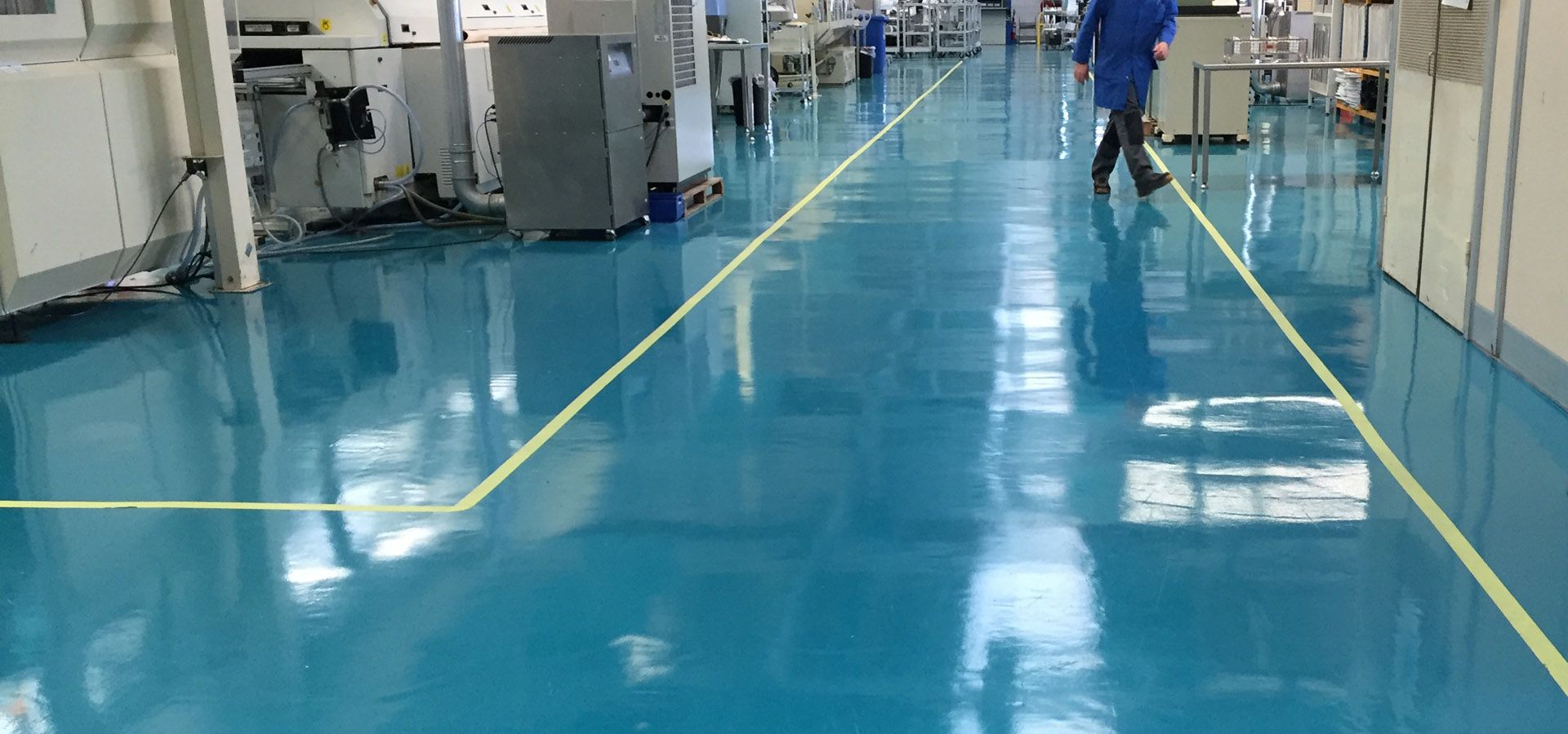 Sol resine epoxy industriel brillant