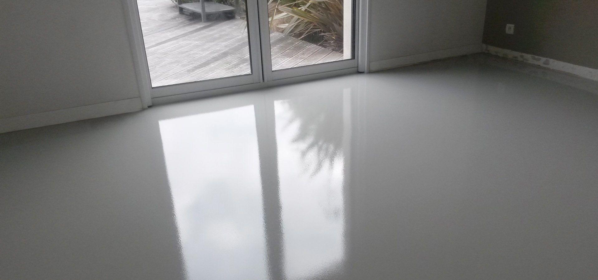 sol resine epoxy autolissant brillant