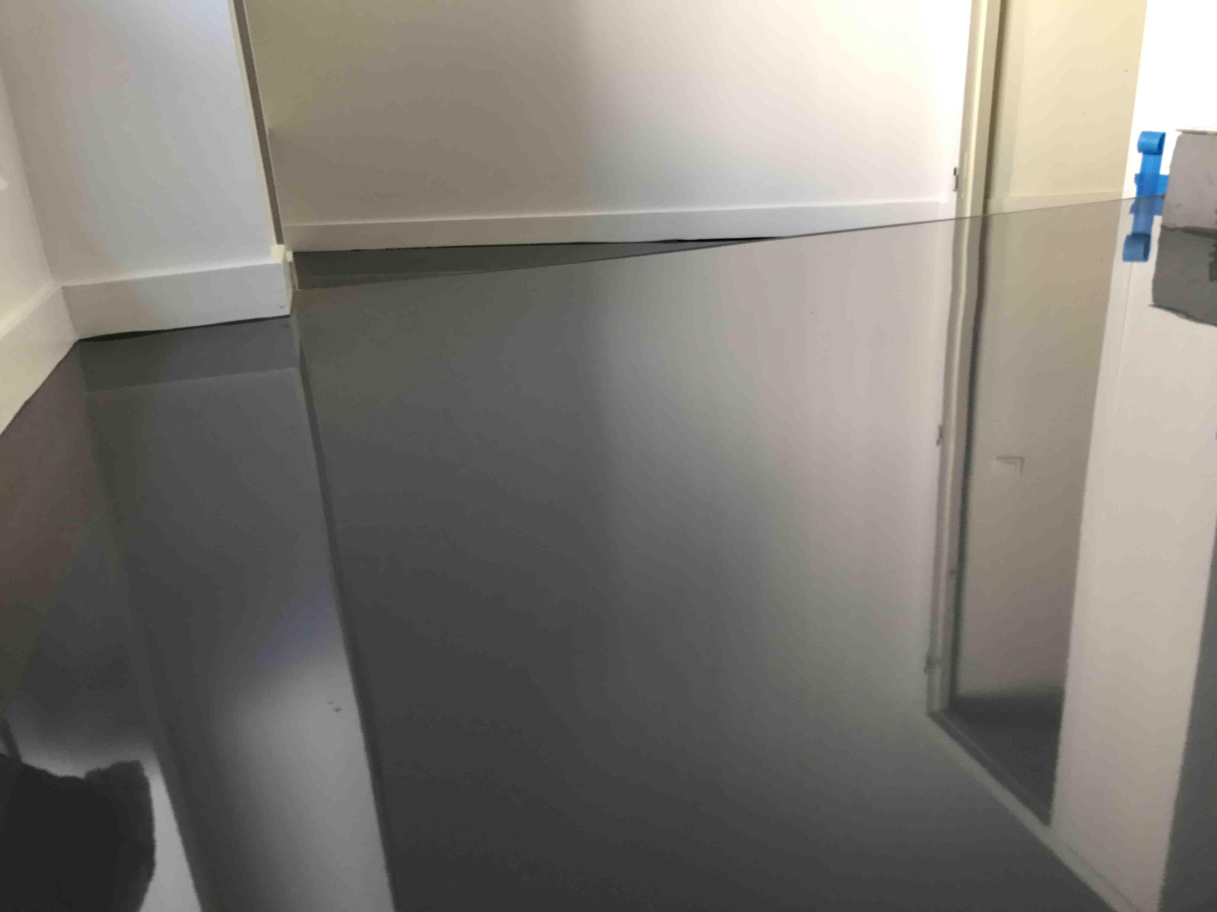 Sol maison polyurethane gris